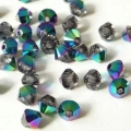 Swarovski Elements 5328 Xilion Bicone - Crystal Scarabaeus Green - 3 mm, 20 pcs