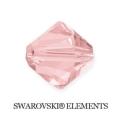Swarovski Elements 5328 Xilion Bicone - Rosaline - 3 mm, 20 ks