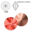 Swarovski Elements Rivoli 1122 – Padparadscha Foiled – 14 mm