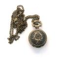 Hodinky s ružou - náhrdelník