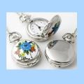 Hodinky s kvetmi - náhrdelník