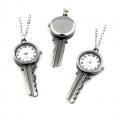 Hodinky kľúčik - 56x24 mm - náhrdelník